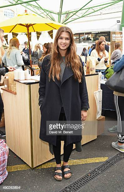 Danielle Copperman attends the Fare Healthy festival of food fitness and wellbeing at Borough Market on September 27 2015 in London England