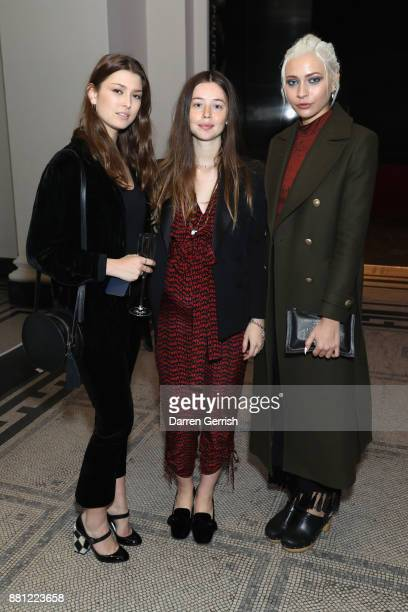 Danielle Copperman Flo Morissey and Charlie Siddick during the 'Creating A Future For Fashion' VIP launch cohosted by Dame Ellen Macarthur and Stella...