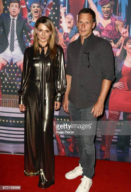 Danielle Cormack and Adam Anthony arrive for the opening night of Cyndi Lauper's Kinky Boots at Capitol Theatre on April 19 2017 in Sydney Australia