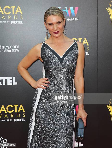 Danielle Cormack arrives ahead of the 6th AACTA Awards at The Star on December 7 2016 in Sydney Australia