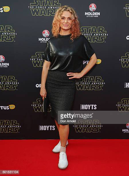 Danielle Cormack arrives ahead of the 'Star Wars The Force Awakens' Australian premiere on December 16 2015 in Sydney Australia
