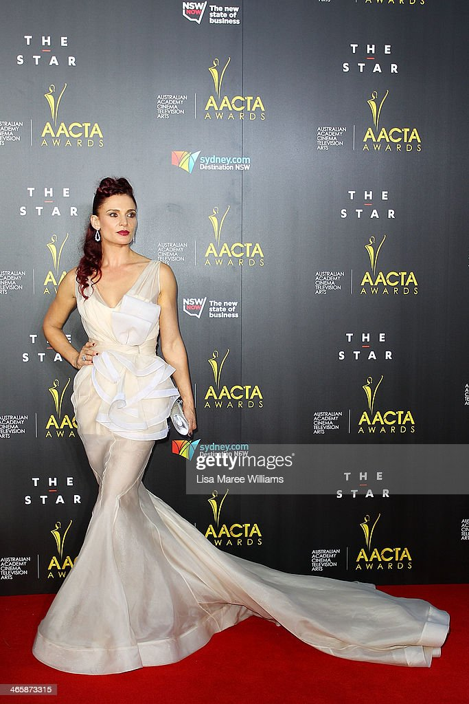 Danielle Cormack arrives at the 3rd Annual AACTA Awards Ceremony at The Star on January 30, 2014 in Sydney, Australia.