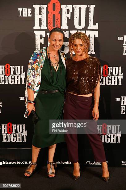Danielle Cormack poses ahead of the New Zealand premiere of The Hateful Eight at Event Cinemas in Newmarket on January 20 2016 in Auckland New Zealand
