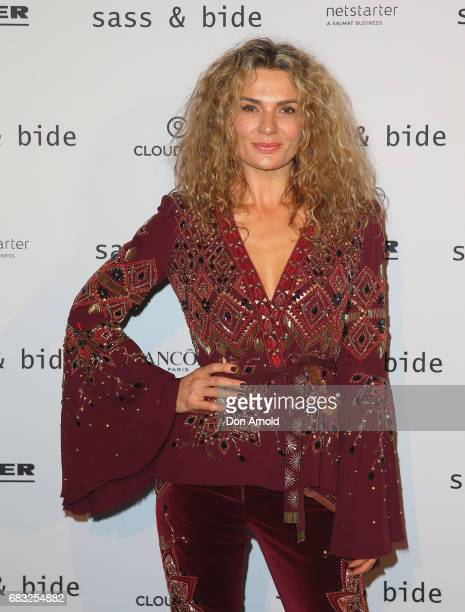 Danielle Cormack poses prior to the Sass Bide show at MercedesBenz Fashion Week Resort 18 Collections at Bay 2224 Carriageworks on May 15 2017 in...