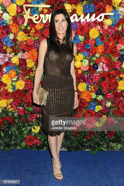 Danielle Corona attends the Ferragamo Celebrates The Launch Of L'Icona Highlighting The 35th Anniversary Of Vara at The McKittrick Hotel Home of...