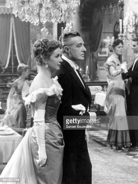 Danielle Darrieux and Vittoria de Sica on the set of Madame de directed by Max Ophüls