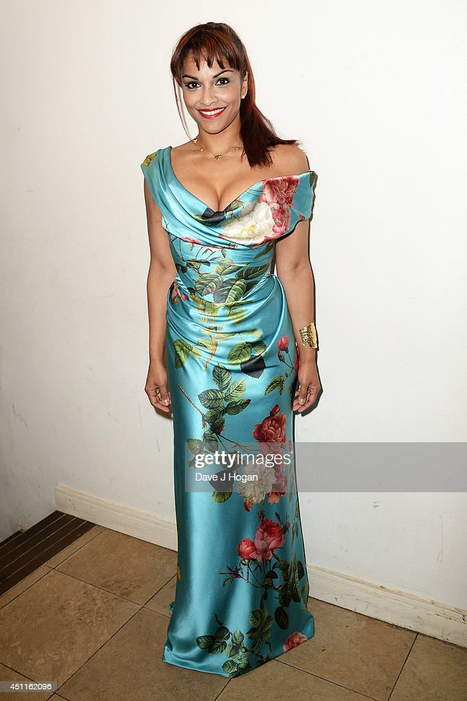 Danielle De Niese poses backstage ahead of performing in aid of The Sohana Research Fund at St John's Smith Square on June 24, 2014 in London, England.