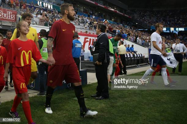Danielle De Rossi of AS Roma come out onto the pitch during a friendly match between AS Roma and Tottenham Hotspur within International Champions Cup...