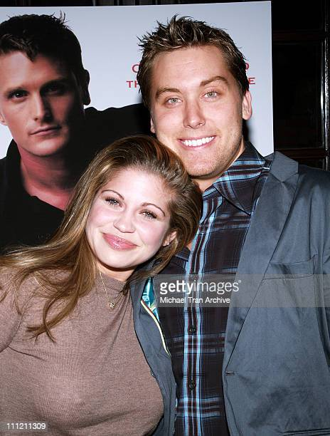 Danielle Fishel and Lance Bass during 'Here's What We'll Say' By Reichen Lehmkuhl Book Release Party at The Abbey in West Hollywood California United...