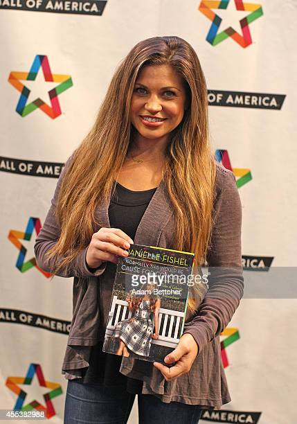 Danielle Fishel poses with her book at Mall of America on September 13 2014 in Bloomington Minnesota