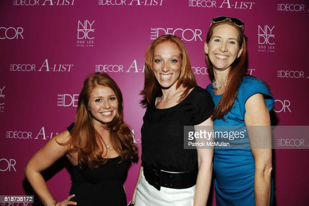 Danielle Galione Leah Blank and Kirsten Brant attend ELLE DECOR ALIST at New York Design Center on June 10 2010 in New York City