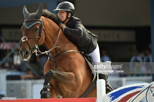 Danielle Goldstein of Israel riding Caspar 213 during the Longines Grand Prix Athina Onassis Horse Show on June 3 2017 in St Tropez France