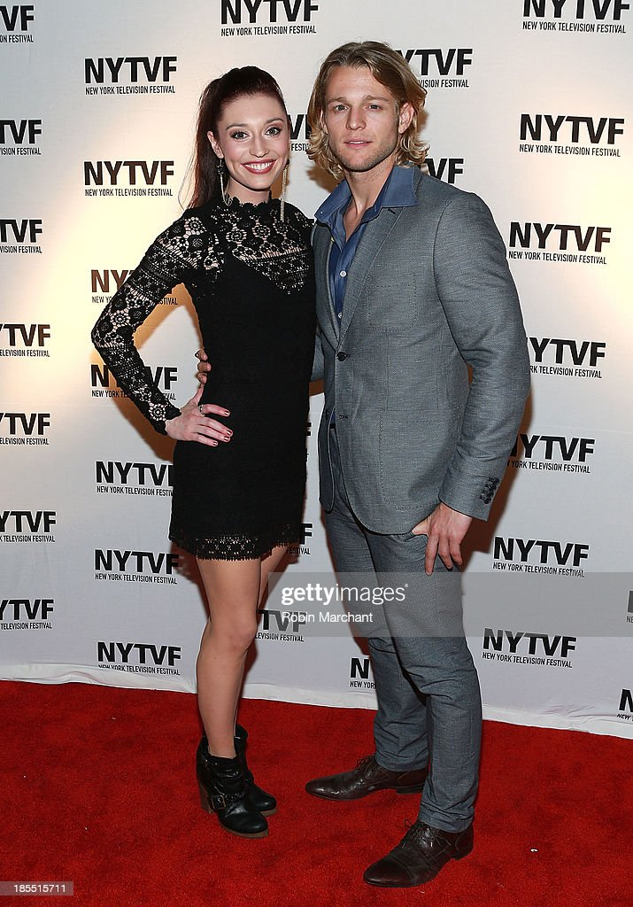 Danielle Guldin (L) and Chase Coleman attend 'In Between Men' Series Screening - 9th Annual New York Television Festival at Tribeca Cinemas on October 21, 2013 in New York City.