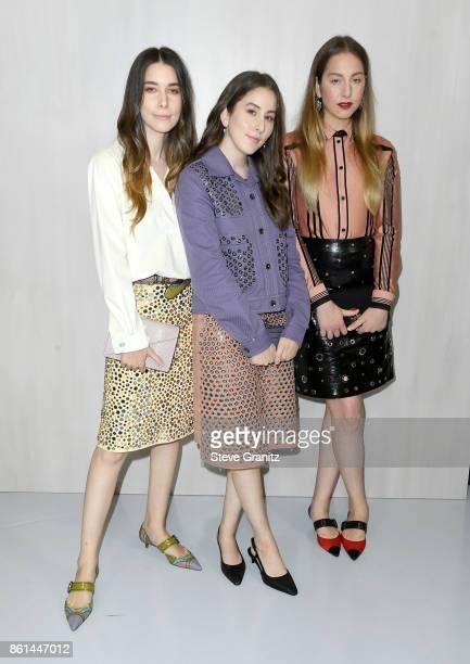 Danielle Haim Alana Haim and Este Haim of HAIM at Bottega Veneta Hosts Hammer Museum Gala In The Garden on October 14 2017 in Westwood California