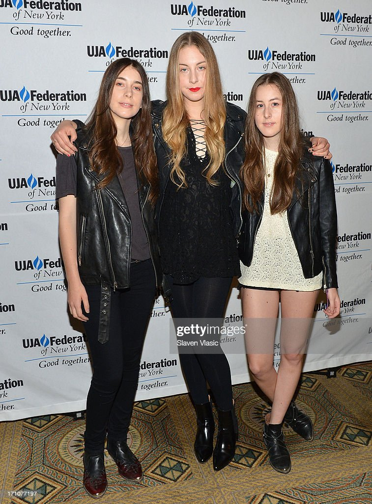 <a gi-track='captionPersonalityLinkClicked' href=/galleries/search?phrase=Danielle+Haim&family=editorial&specificpeople=2499485 ng-click='$event.stopPropagation()'>Danielle Haim</a>, <a gi-track='captionPersonalityLinkClicked' href=/galleries/search?phrase=Este+Haim&family=editorial&specificpeople=2499486 ng-click='$event.stopPropagation()'>Este Haim</a> and <a gi-track='captionPersonalityLinkClicked' href=/galleries/search?phrase=Alana+Haim&family=editorial&specificpeople=9431818 ng-click='$event.stopPropagation()'>Alana Haim</a> of the Haim attend UJA-Federation Of New York Music Visionary Of The Year Award Luncheon at The Pierre Hotel on June 21, 2013 in New York City.