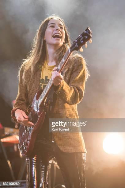 Danielle Haim of Haim performs in concert during day 4 of Primavera Sound 2017on June 3 2017 in Barcelona Spain