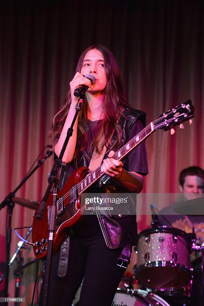 Danielle Haim of HAIM Rock band perfoms onstage at a luncheon honoring Rob Stringer as UJA-Federation of New York Music Visionary of 2013 at The Pierre Hotel on June 21, 2013 in New York City.
