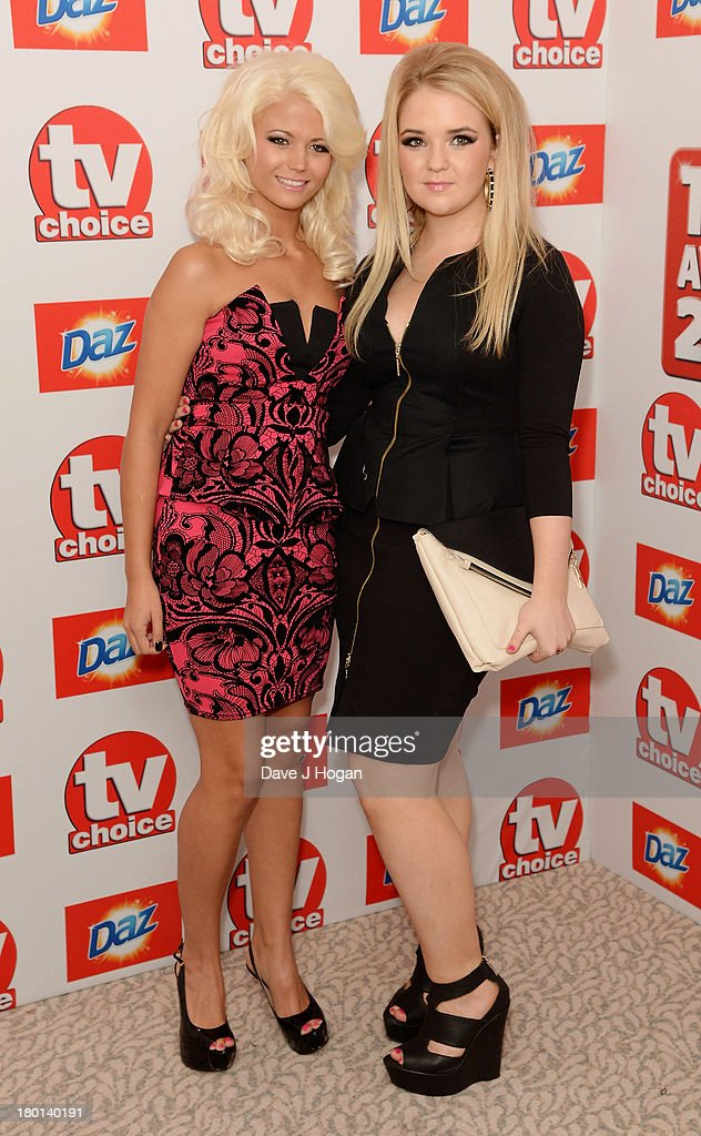 Danielle Harold and Lorna Fitzgerald attends the TV Choice Awards 2013 at The Dorchester on September 9, 2013 in London, England.