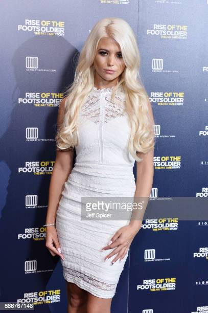 Danielle Harold arriving at the UK Premiere of 'Rise of the Footsoldier 3 The Pat Tate Story' at Cineworld Leicester Square on October 26 2017 in...