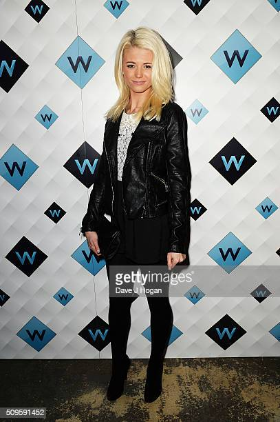 Danielle Harold attends a celebration of the new TV channel 'W' launching on Monday 15th February at Union Street Cafe on February 11 2016 in London...