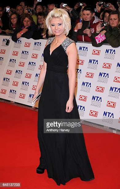 Danielle Harold attends the National Television Awards at the O2 Arena on January 25 2012 in London