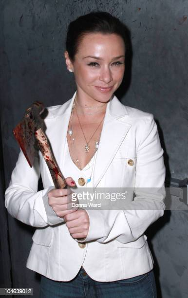 Danielle Harris attends the 2010 ribboncutting ceremony at Blood Manor on October 1 2010 in New York City