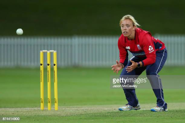 Danielle Hazell of England fields during the T20 match between the GovernorGeneral's XI and England at Drummoyne Oval on November 15 2017 in Sydney...