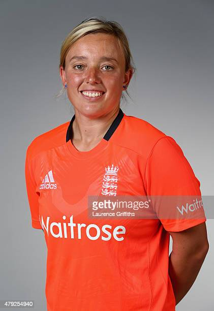 Danielle Hazell of England poses for a portrait at the National Cricket Performance Centre on July 1 2015 in Loughborough England