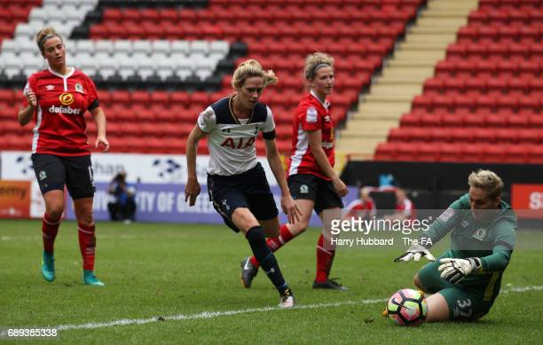 Danielle Hill of Blackburn in action during the FA Women's Premier League Playoff Final between Tottenham Hotspur Ladies and Blackburn Rovers Ladies...