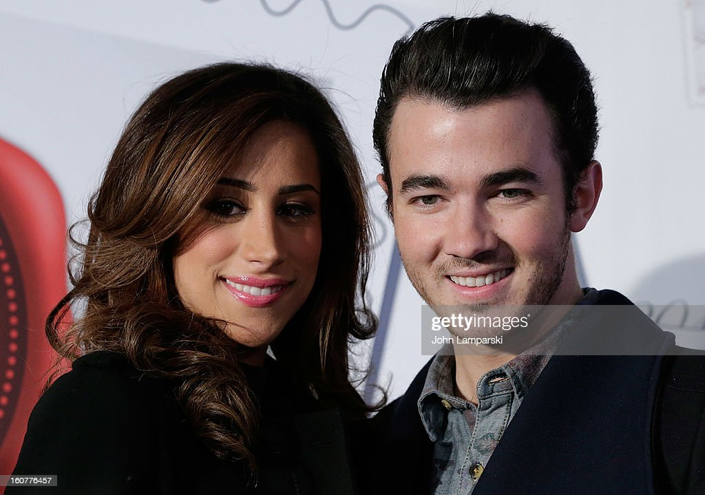 Danielle Jonas and Kevin Jonas attend 2013 'Sealed With Love' U.S. Postal Stamp Unveiling at Broadway Pedestrian Plaza on February 5, 2013 in New York City.