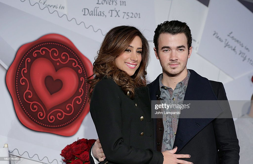 Danielle Jonas and <a gi-track='captionPersonalityLinkClicked' href=/galleries/search?phrase=Kevin+Jonas&family=editorial&specificpeople=709547 ng-click='$event.stopPropagation()'>Kevin Jonas</a> attend 2013 'Sealed With Love' U.S. Postal Stamp Unveiling at Broadway Pedestrian Plaza on February 5, 2013 in New York City.