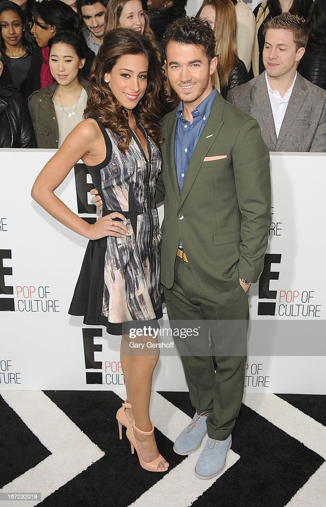 Danielle Jonas (L) and <a gi-track='captionPersonalityLinkClicked' href=/galleries/search?phrase=Kevin+Jonas&family=editorial&specificpeople=709547 ng-click='$event.stopPropagation()'>Kevin Jonas</a> attend the 2013 E! Upfront at The Grand Ballroom at Manhattan Center on April 22, 2013 in New York City.