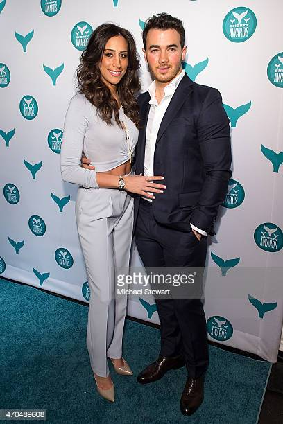 Danielle Jonas and Kevin Jonas attend the 2015 Shorty Awards at TheTimesCenter on April 20 2015 in New York City