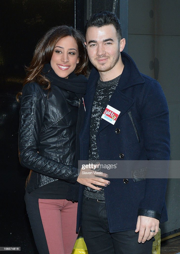 Danielle Jonas and Kevin Jonas attend the Kevin Jonas, Danielle Jonas and City Harvest Holiday Season Food Drive at FDNY Station - Lexington & 3rd on December 14, 2012 in New York City.