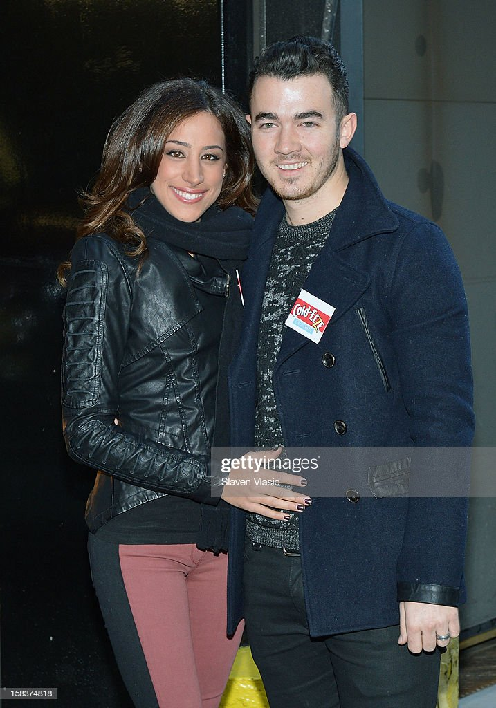 Danielle Jonas and <a gi-track='captionPersonalityLinkClicked' href=/galleries/search?phrase=Kevin+Jonas&family=editorial&specificpeople=709547 ng-click='$event.stopPropagation()'>Kevin Jonas</a> attend the <a gi-track='captionPersonalityLinkClicked' href=/galleries/search?phrase=Kevin+Jonas&family=editorial&specificpeople=709547 ng-click='$event.stopPropagation()'>Kevin Jonas</a>, Danielle Jonas and City Harvest Holiday Season Food Drive at FDNY Station - Lexington & 3rd on December 14, 2012 in New York City.