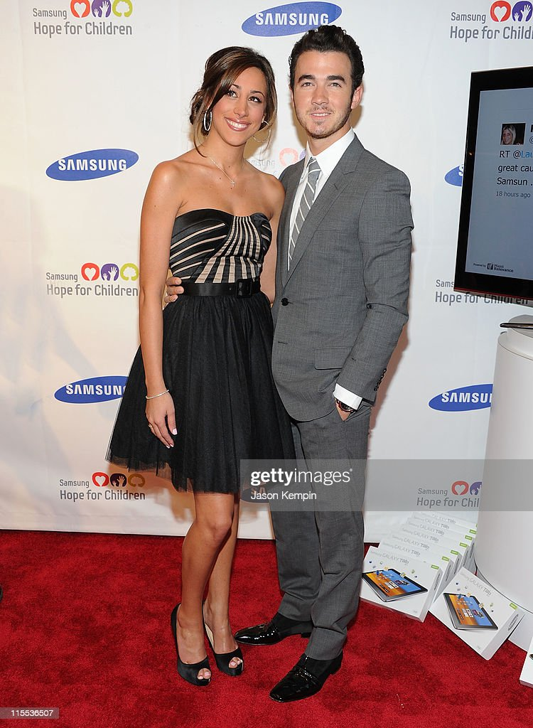 Danielle Jonas and <a gi-track='captionPersonalityLinkClicked' href=/galleries/search?phrase=Kevin+Jonas&family=editorial&specificpeople=709547 ng-click='$event.stopPropagation()'>Kevin Jonas</a> attend the Samsung Hope for Children gala at Cipriani Wall Street on June 7, 2011 in New York City.