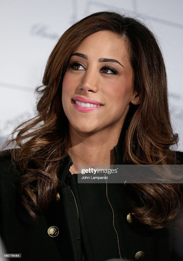 Danielle Jonas and2013 'Sealed With Love' U.S. Postal Stamp Unveiling at Broadway Pedestrian Plaza on February 5, 2013 in New York City.