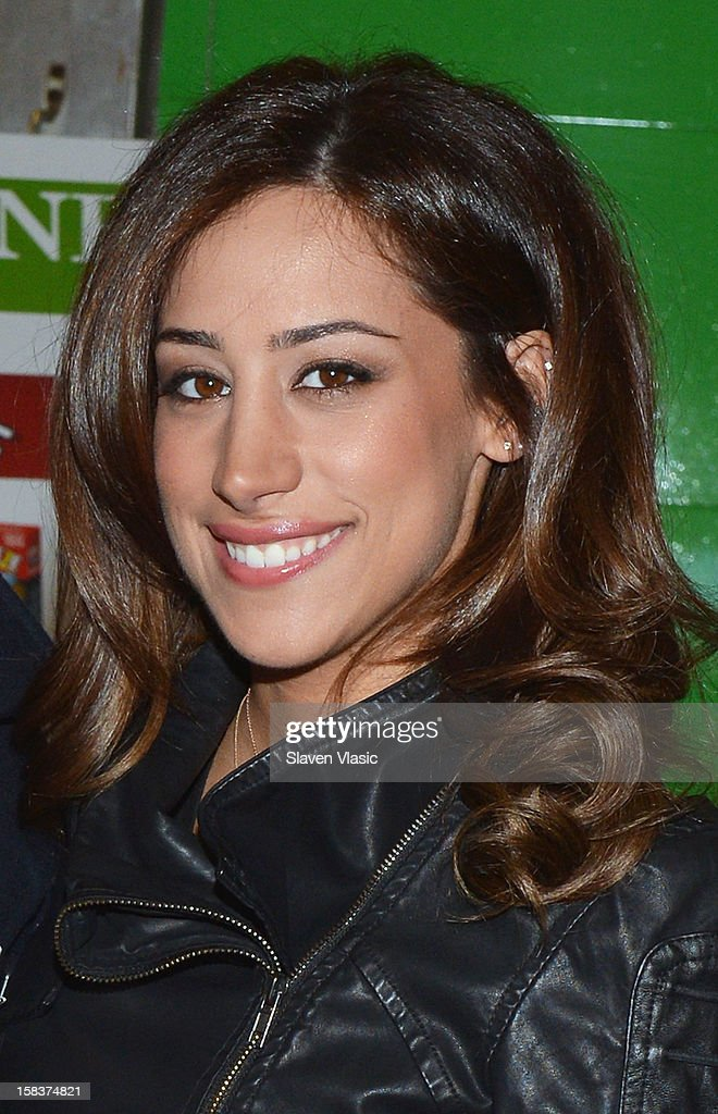 Danielle Jonas attends 'Kevin Jonas and Danielle Jonas and City Harvest Holiday Season Food Drive' at FDNY Station - Lexington & 3rd on December 14, 2012 in New York City.