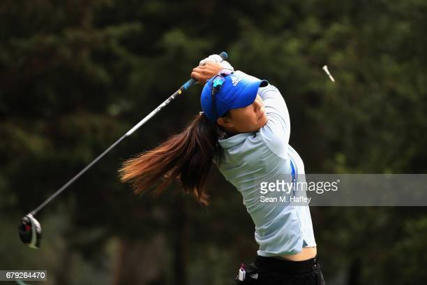Danielle Kang of the United States hits a shot off the second tee during the second round of the Citibanamex Lorena Ochoa Match Play Presented by...