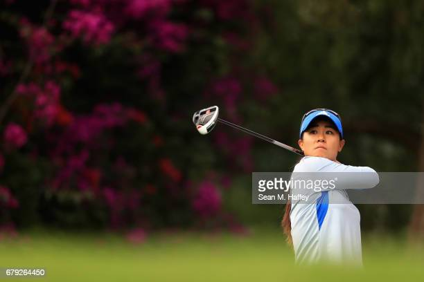 Danielle Kang of the United States hits a shot off the sixth tee during the second round of the Citibanamex Lorena Ochoa Match Play Presented by...
