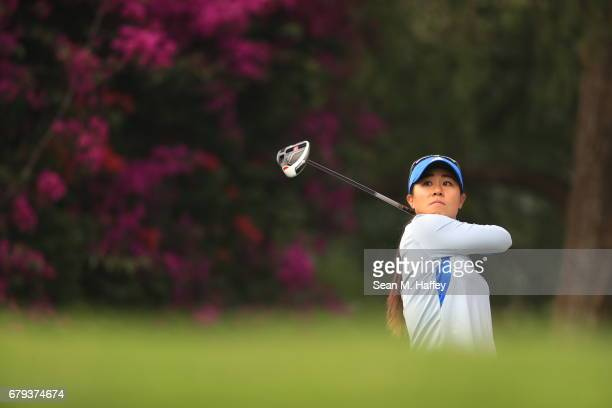 Danielle Kang of the United States hits a shot on the sixth tee during the second round of the Citibanamex Lorena Ochoa Match Play Presented by...