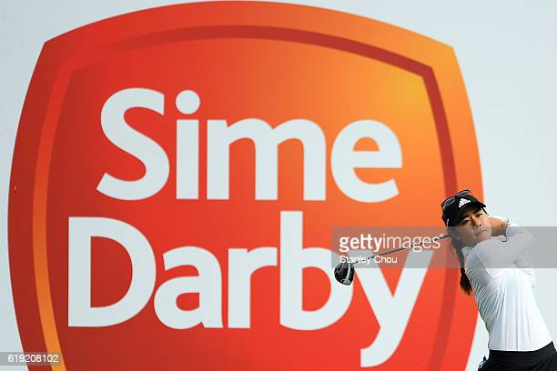 Danielle Kang of the United States in action during day four of the Sime Darby LPGA at TPC Kuala Lumpur on October 30 2016 in Kuala Lumpur Malaysia