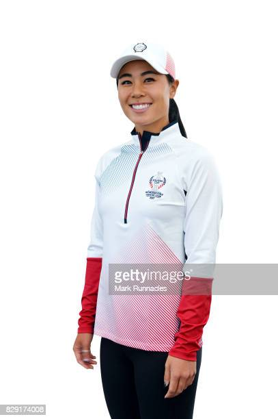 Danielle Kang of the United States poses for a portrait following the announcement of the 2017 Solheim Cup Europe and USA teams at Kingsbarns Golf...