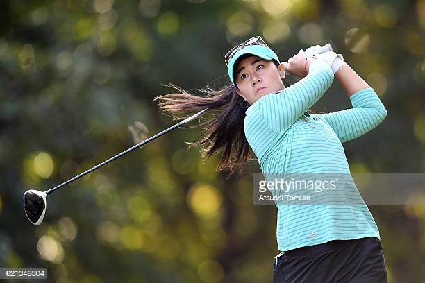Danielle Kang of the USA hits her tee shot on the 2nd hole during the final round of the TOTO Japan Classics 2016 at the Taiheiyo Club Minori Course...