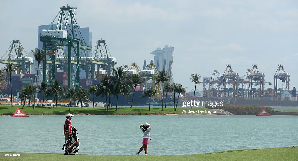 Danielle Kang of the USA in action during the third round of the HSBC Women's Champions at the Sentosa Golf Club on March 2, 2013 in Singapore, Singapore.