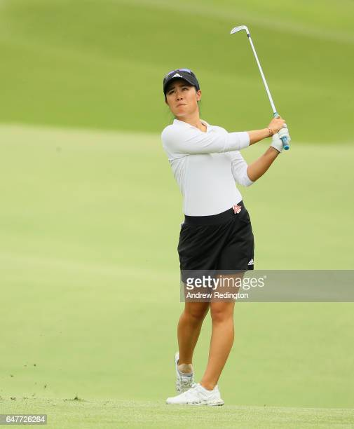 Danielle Kang of the USA in action during the third round of the HSBC Women's Champions on the Tanjong Course at Sentosa Golf Club on March 4 2017 in...