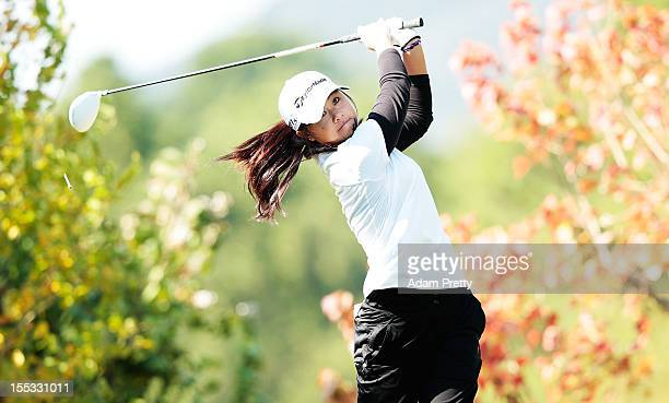 Danielle Kang of the USA tees off during the second round of the Mizuno Classic at Kintetsu Kashikojima Country Club on November 3 2012 in Shima Japan