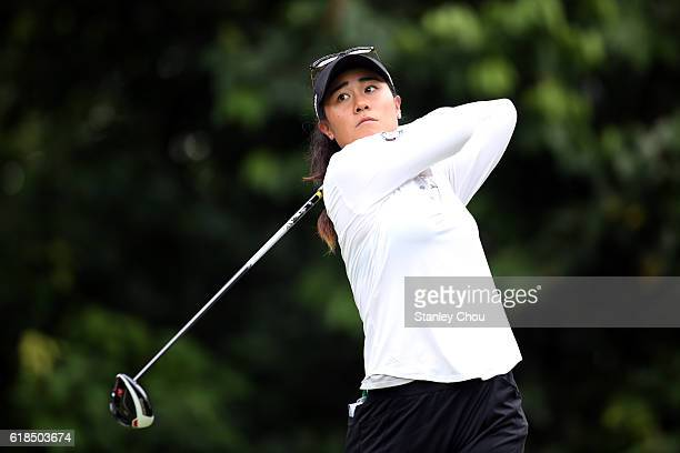 Danielle Kang of United States plays a shot during day one of the Sime Darby LPGA at TPC Kuala Lumpur on October 27 2016 in Kuala Lumpur Malaysia