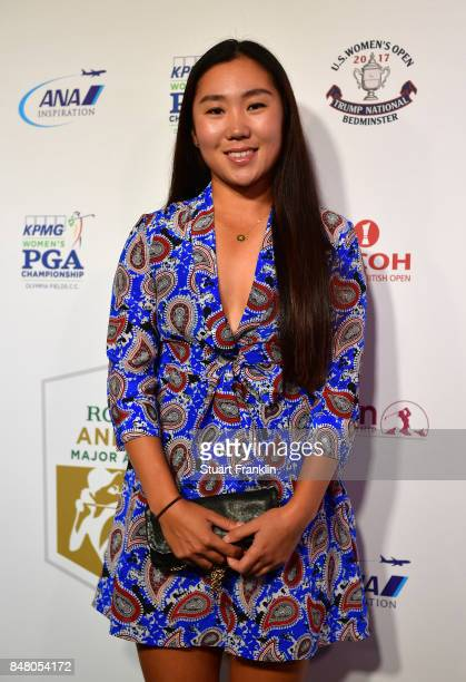Danielle Kang of USA poses for a picture at the Rolex Annika Awards ceremony after the second round of The Evian Championship 2017 at Evian Resort...