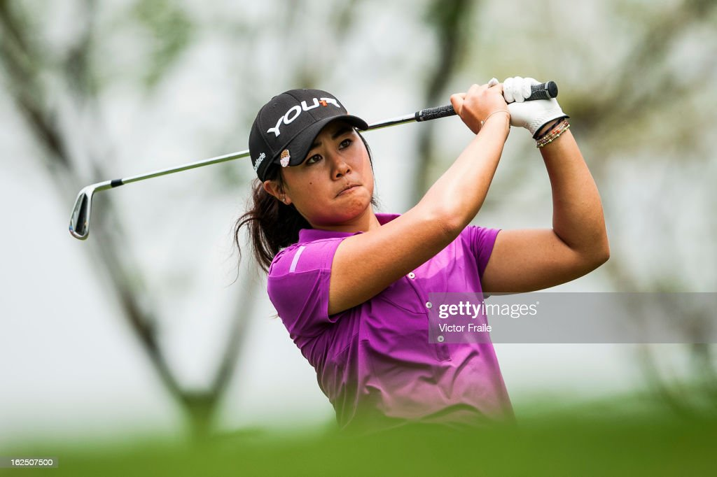 Danielle Kang of USA tees off on the 12nd hole during day four of the Honda LPGA Thailand at Siam Country Club on February 24, 2013 in Chon Buri, Thailand.